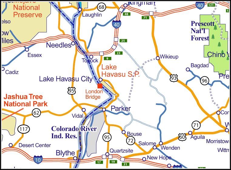Map Of Lake Havasu Arizona