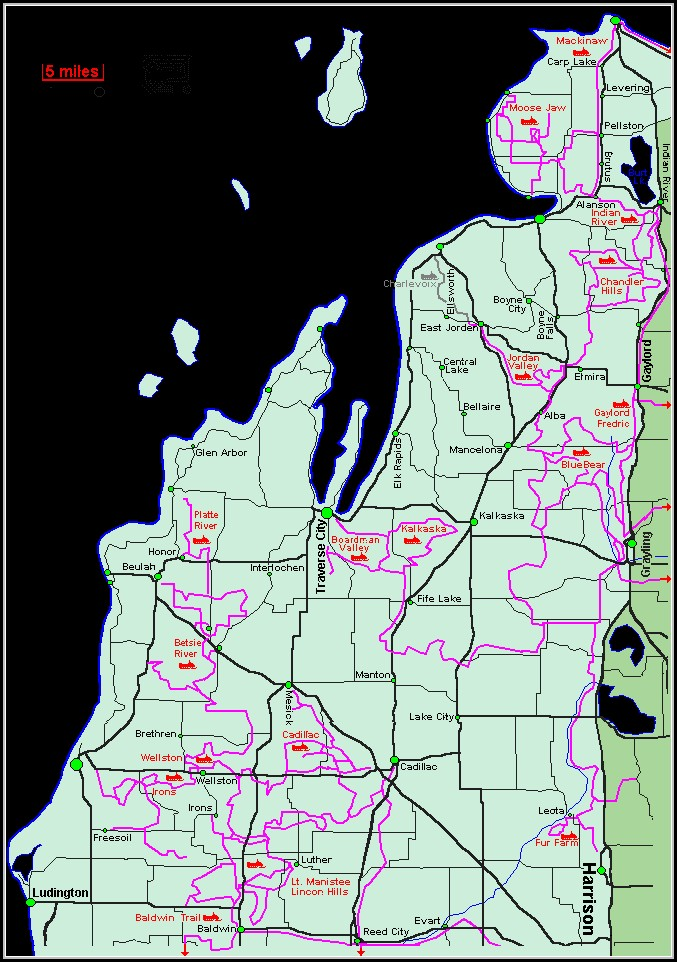 Michigan Snowmobile Trail Maps