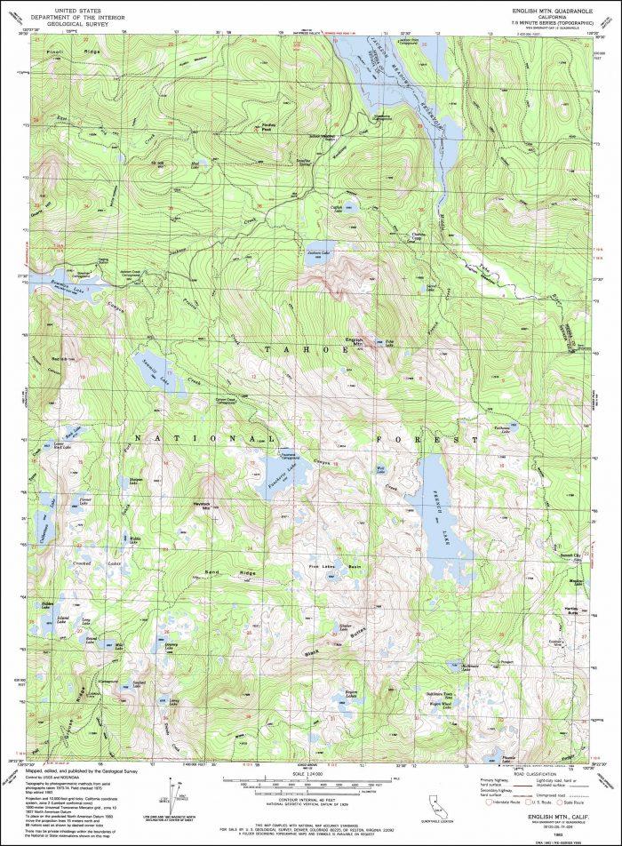 Nevada Topographic Map Free