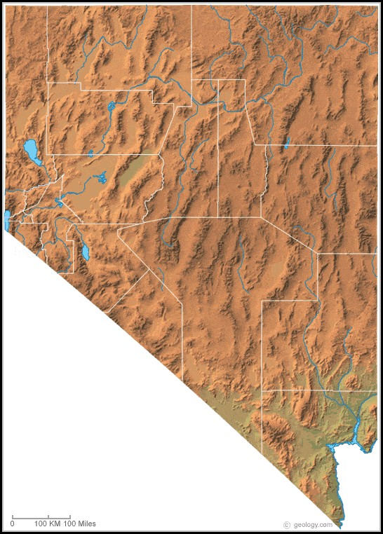 Nevada Topographic Map