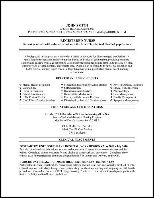 Nursing Resume Templates