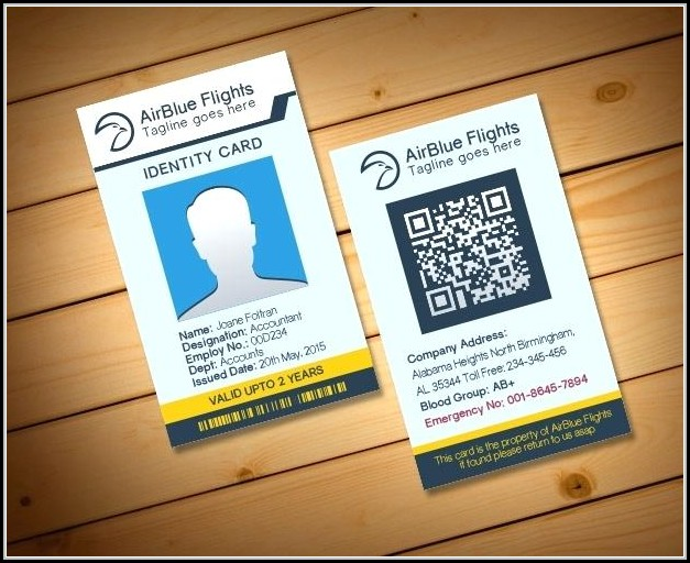 Pvc Id Card Template Free Download