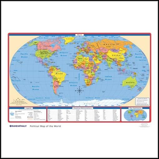 Rand Mcnally World Political Map
