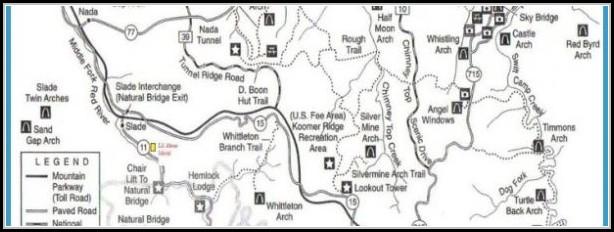 Red River Gorge Trail Map Pdf