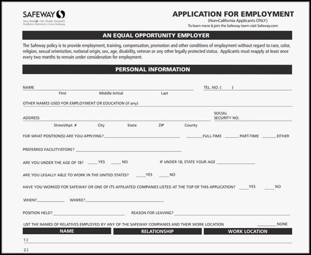 Safeway Jobs Application
