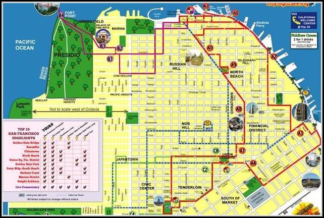 San Francisco Hop On Hop Off Tour Map