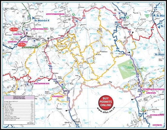 Snowmobile Trail Maps Ontario