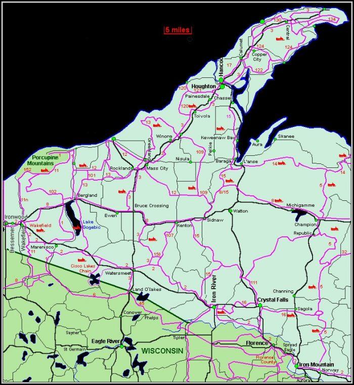 Snowmobile Trail Maps Upper Peninsula Michigan