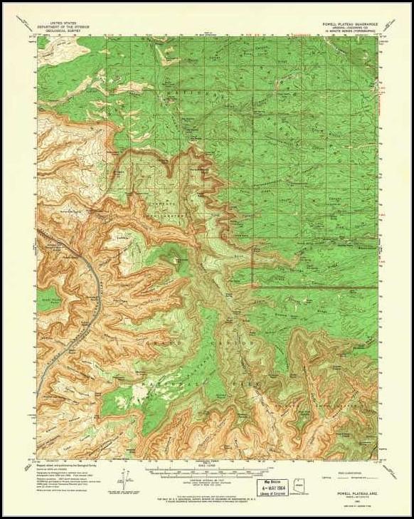 Topographical Map Of Arizona