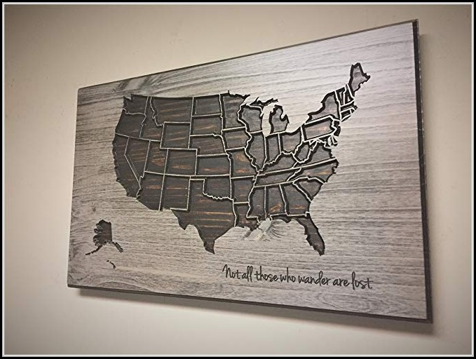 United States Map Wall Art