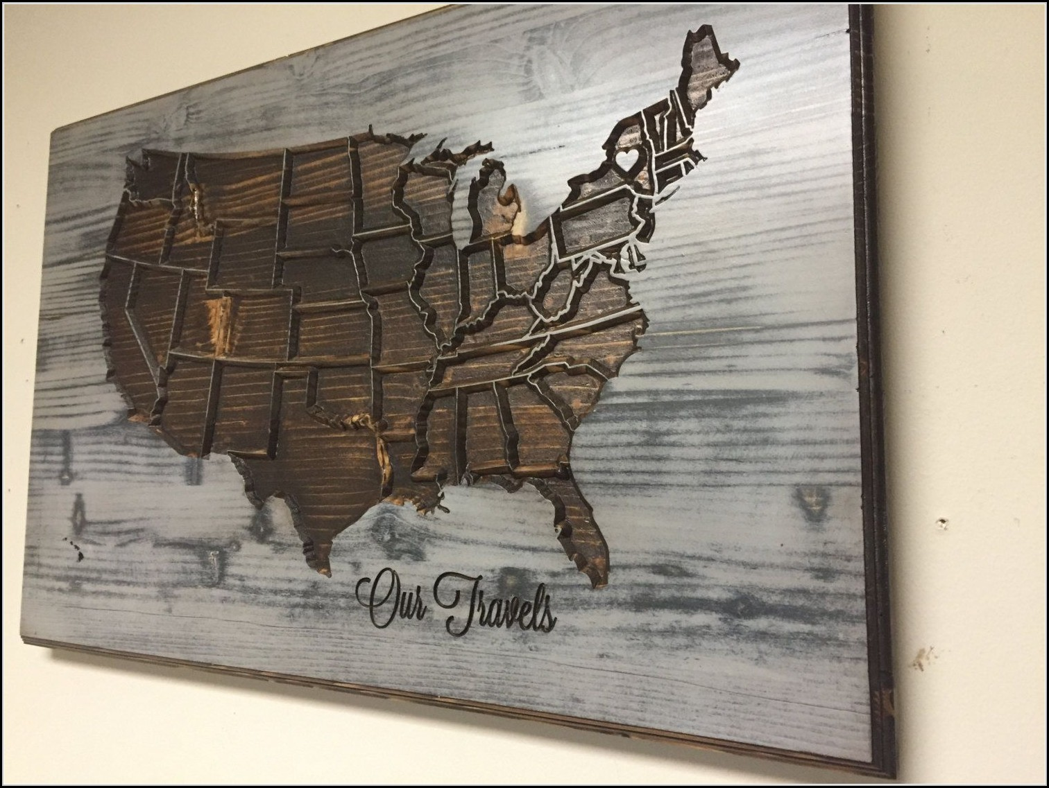 United States Map Wall Decor