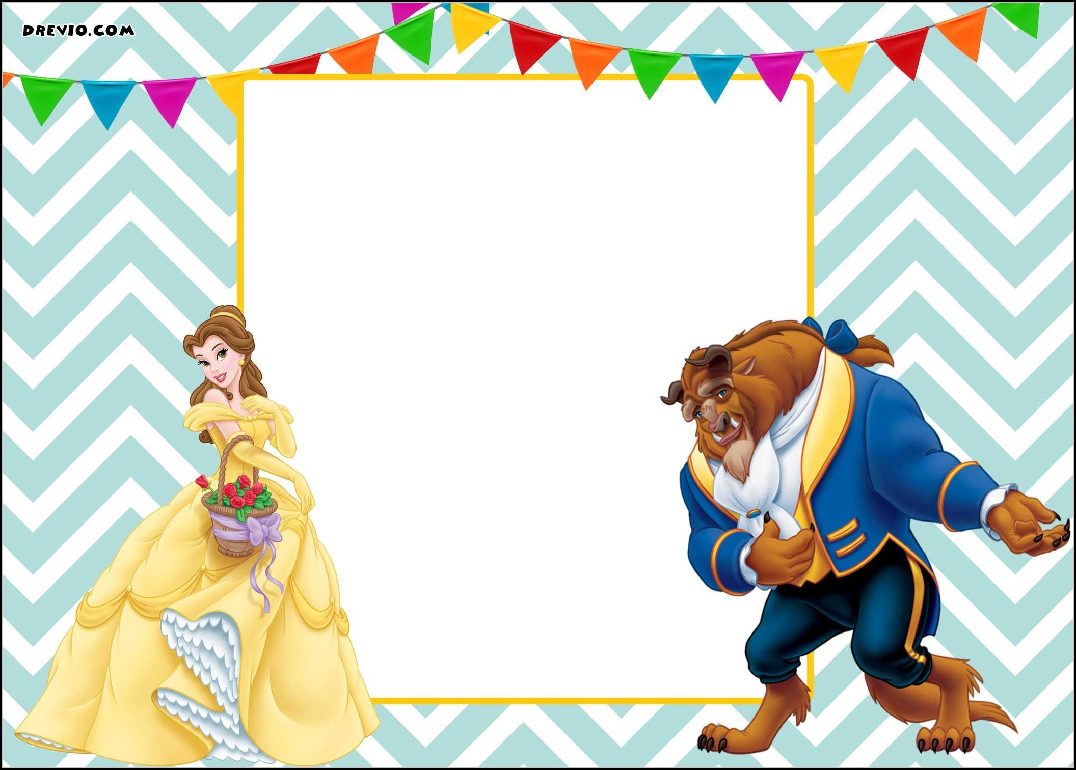 Beauty And The Beast Party Invitation Template Free