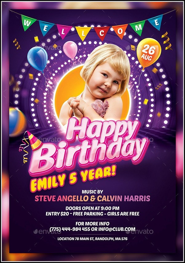 Birthday Flyer Templates For Microsoft Word