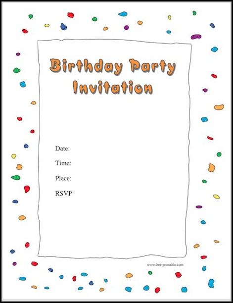 Birthday Party Invitation Templates Free