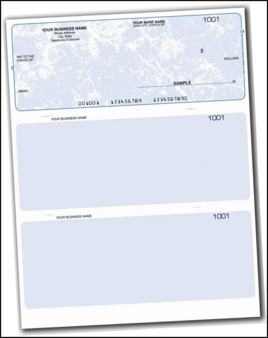 Blank Business Check Template Excel