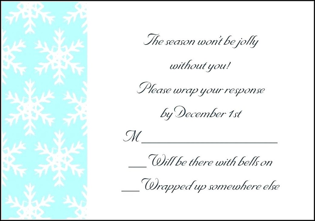 Blank Farewell Invitation Template