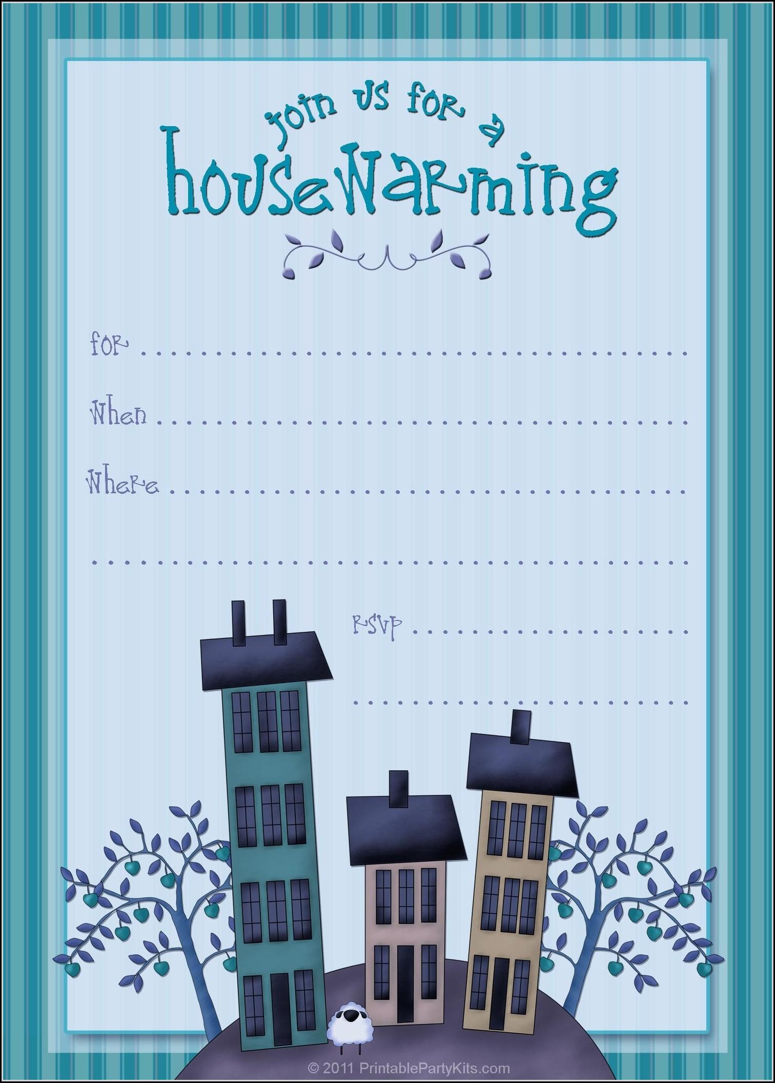 Blank Housewarming Invitation Template