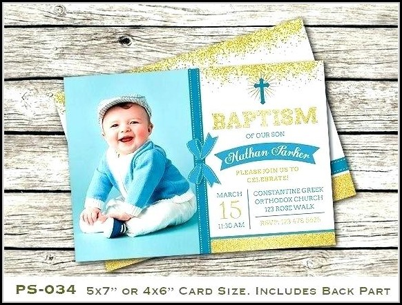 Boy Baptism Invitation Templates Free