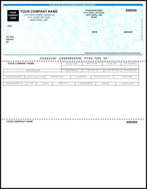 Business Payroll Check Template