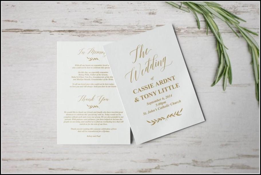 Catholic Wedding Program Template Download