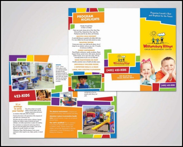 Child Care Brochure Templates Free Download