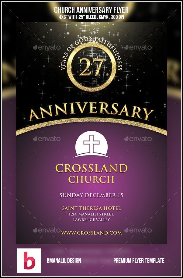 Church Anniversary Flyer Templates Free