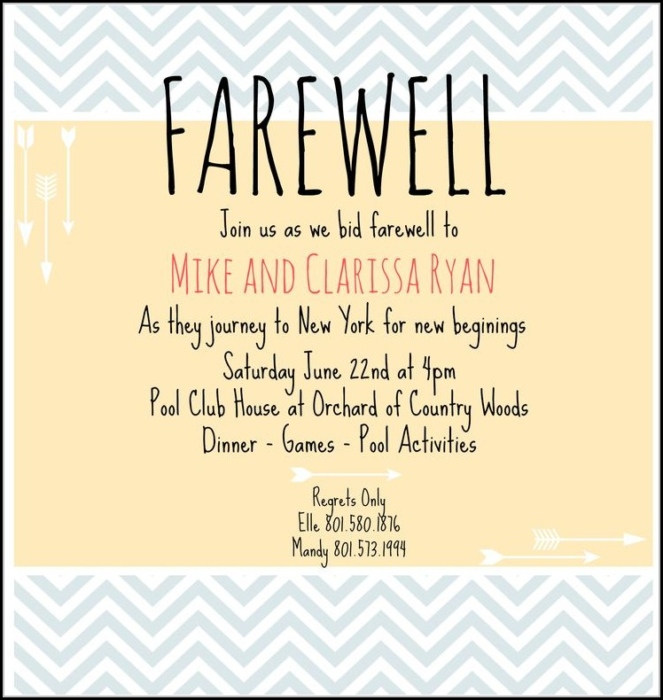 Colleague Farewell Invitation Template