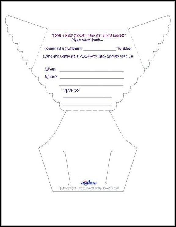 Diaper Invitation Template Free