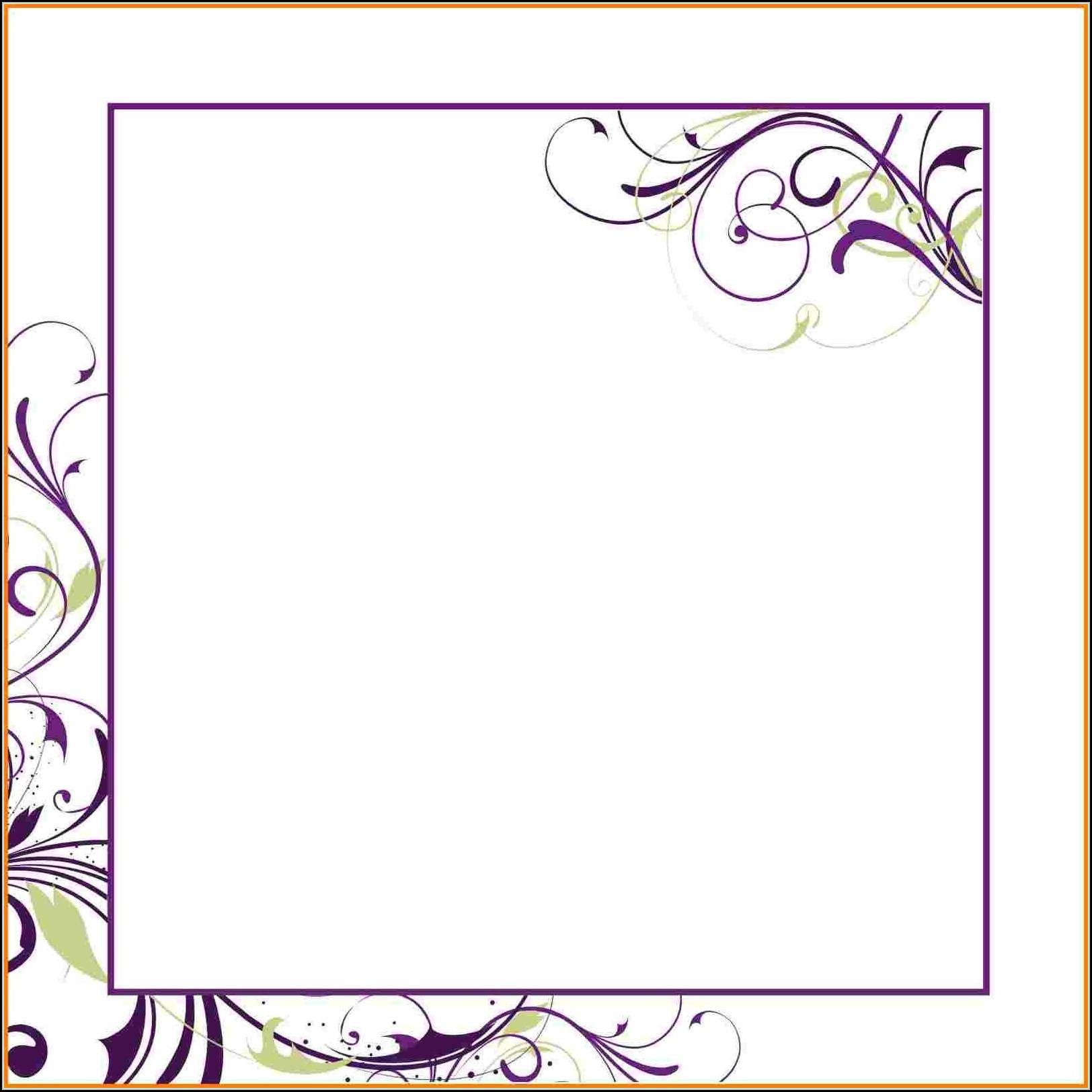 Downloadable Blank Invitation Templates