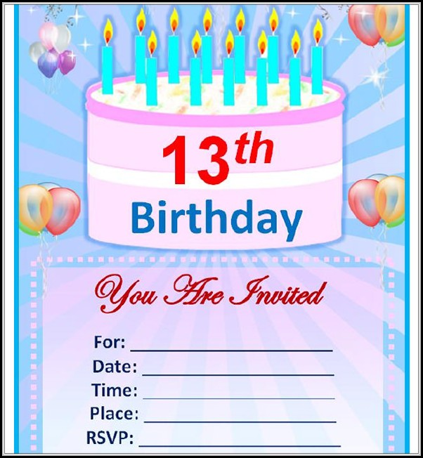 Editable Birthday Invitation Templates Word