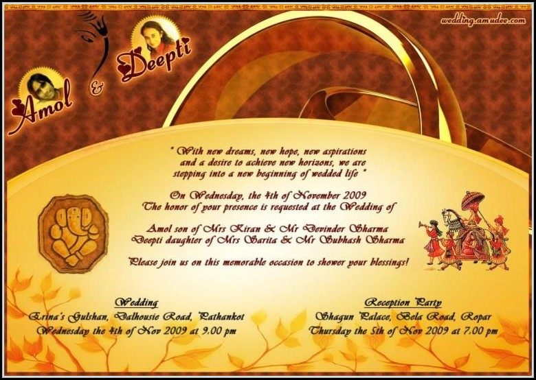 Editable Hindu Wedding Invitation Cards Templates Free Download