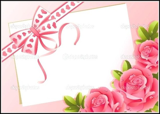 Empty Greeting Card Templates
