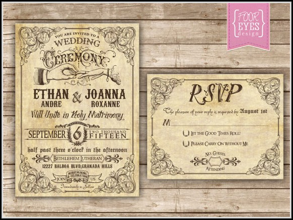 Free Steampunk Invitation Templates
