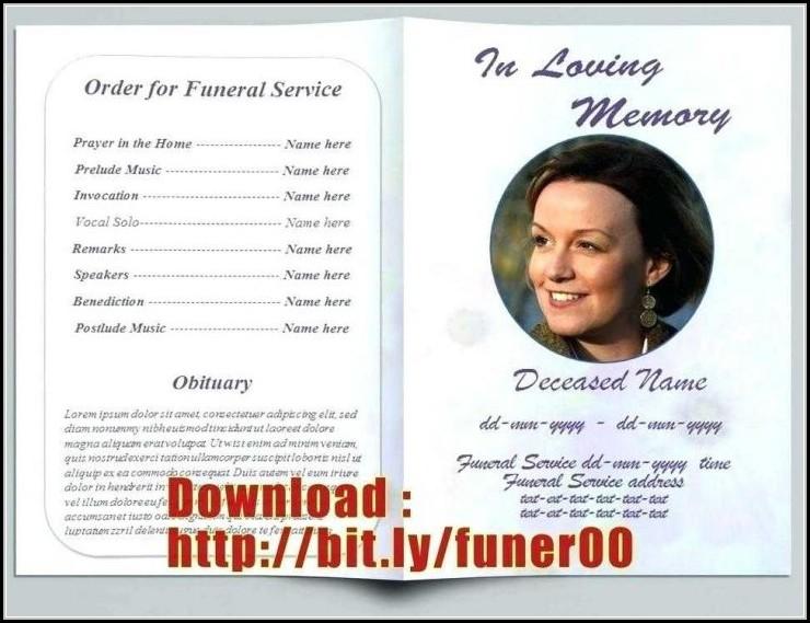 Funeral Bulletin Template Free