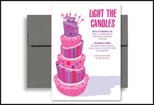 Girls Birthday Party Invitation Template