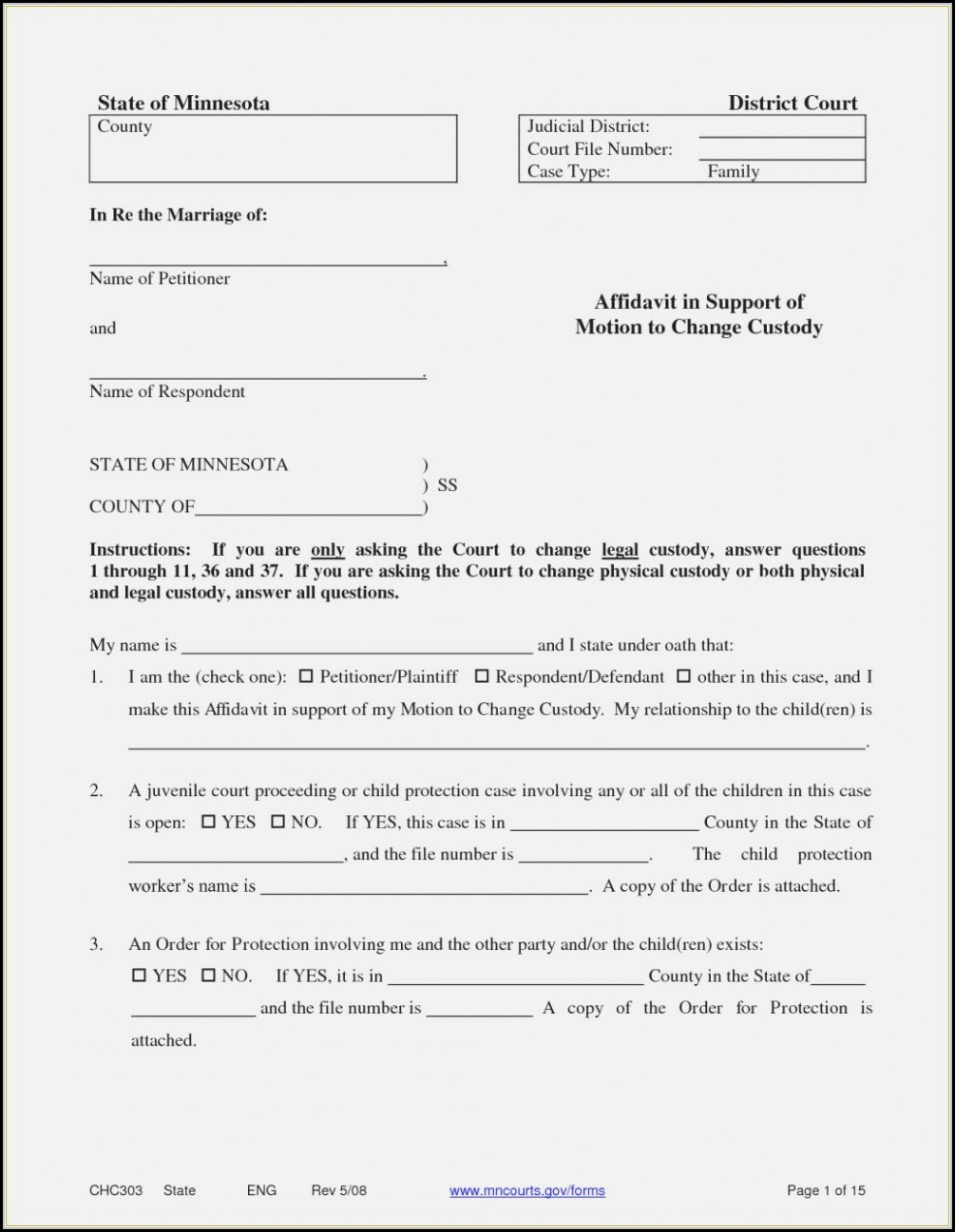 Guardianship Forms Nc