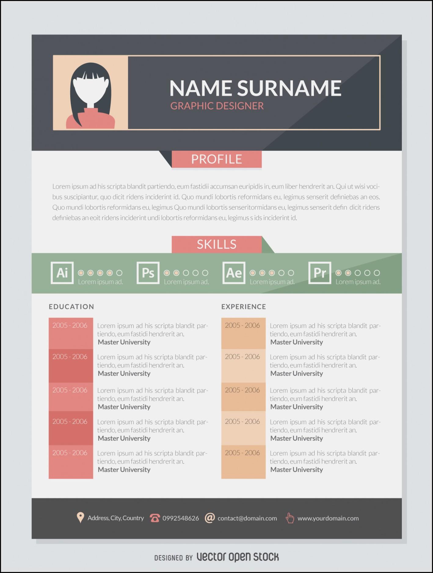 Infographic Resume Builder Linkedin