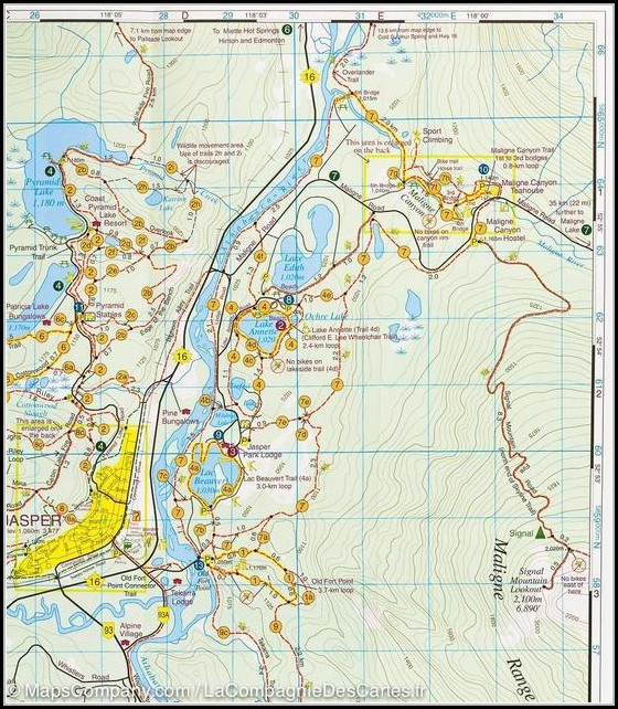 Jasper Hiking Map