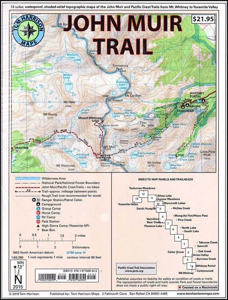 John Muir Trail Maps