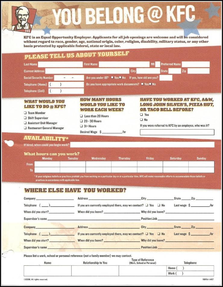 Kfc Australia Job Application Online