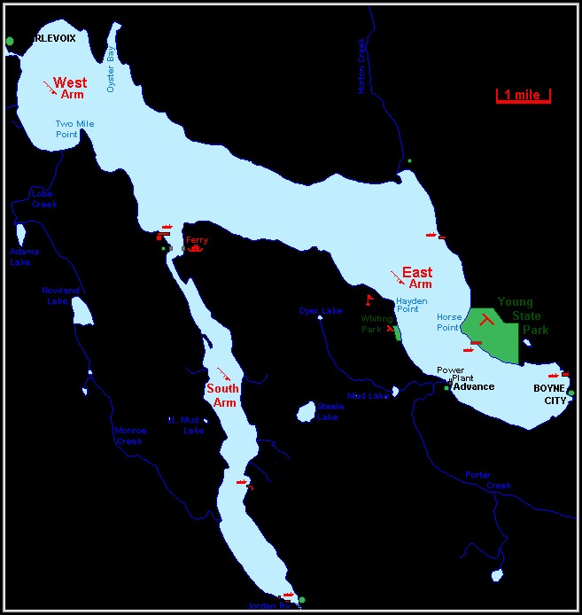 Lake Charlevoix Map