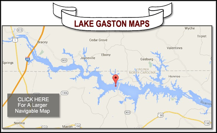 Lake Gaston Nc Map