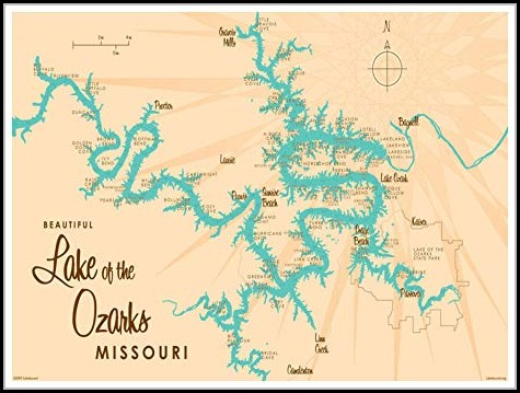 Lake Of The Ozarks Missouri Map