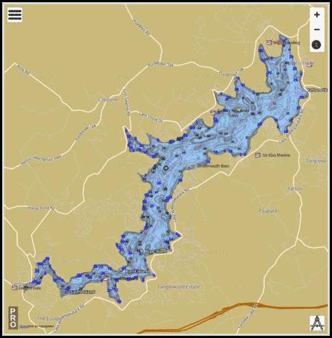 Lake Wallenpaupack Fishing Map
