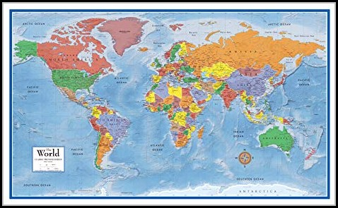 Laminated World Map Poster