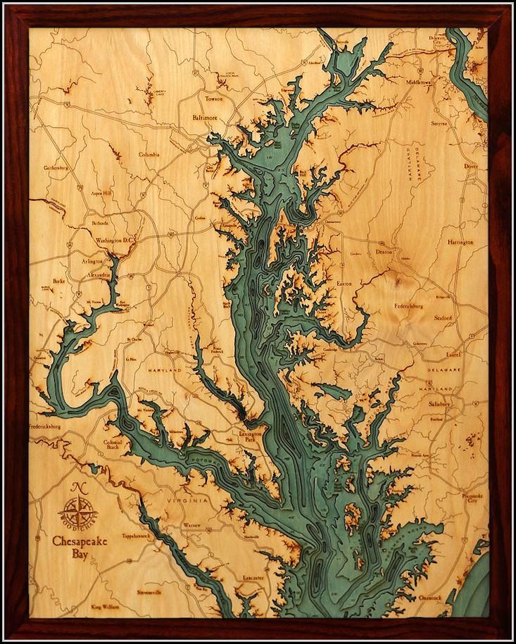 Laser Cut Wood Maps