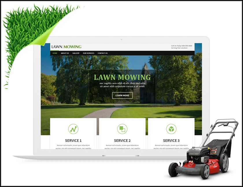 Lawn Care Website Templates Free