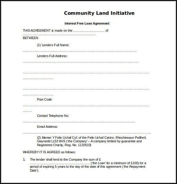 Loan Agreement Templates Free