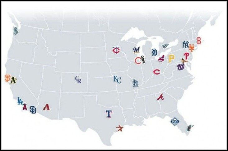 Major League Baseball Stadiums Map