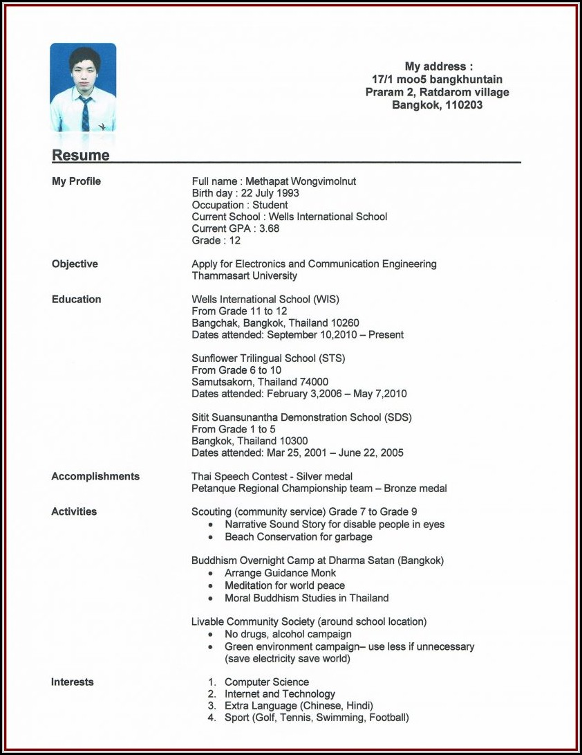 Make My Own Resume For Free